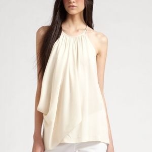 Theory 'Terabi' draped stretch-silk camisole top